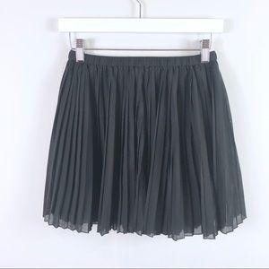 BCBGeneration Skirts - BCBG Generation Black Chiffon Pleated Mini Skirt